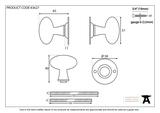 Polished Brass Oval Mortice/Rim Knob Set Image 2 Thumbnail