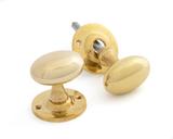 Polished Brass Oval Mortice/Rim Knob Set Image 1 Thumbnail