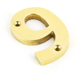 Polished Brass Numeral 9 Image 1 Thumbnail