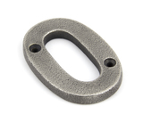 Antique Pewter Numeral 0 Image 1 Thumbnail