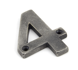 Antique Pewter Numeral 4 Image 1 Thumbnail
