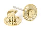 Polished Brass Round Bathroom Thumbturn Image 1 Thumbnail
