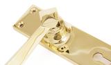 Polished Brass Straight Lever Lock Set Image 2 Thumbnail