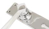 Polished Chrome Straight Lever Lock Set Image 2 Thumbnail