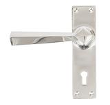 Polished Chrome Straight Lever Lock Set Image 1 Thumbnail
