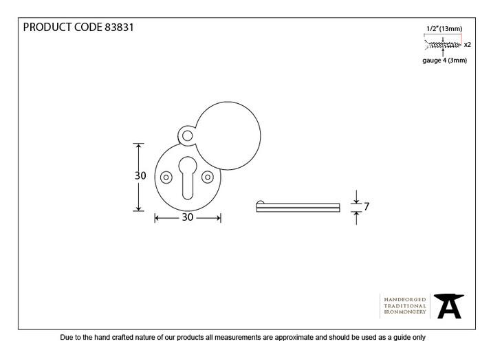 Polished Brass 30mm Round Escutcheon Image 2
