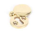 Polished Brass 30mm Round Escutcheon Image 1 Thumbnail