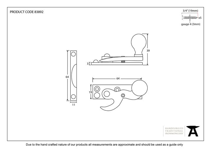 Polished Chrome Prestbury Sash Hook Fastener Image 2