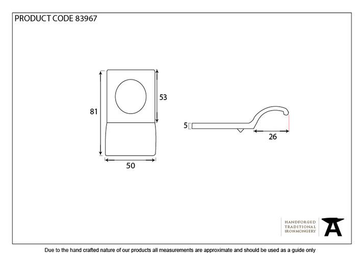 Aged Bronze Rim Cylinder Pull Image 3