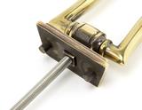 Aged Brass Slimline Art Deco Door Knocker Image 5 Thumbnail