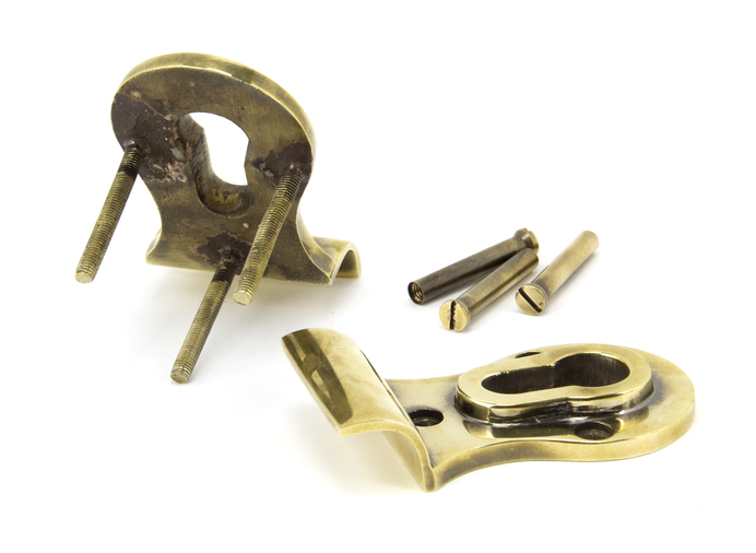Aged Brass 50mm Euro Door Pull (Back to Back fixings) Image 2