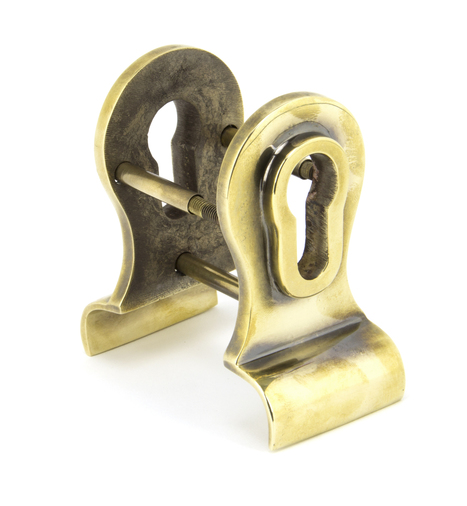 Aged Brass 50mm Euro Door Pull (Back to Back fixings) Image 1