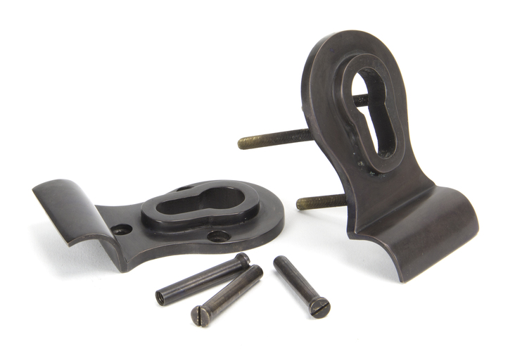 Aged Bronze 50mm Euro Door Pull (Back to Back fixings) Image 3