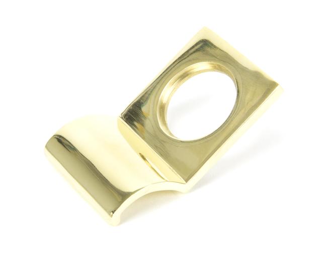 Polished Brass Rim Cylinder Pull Image 1