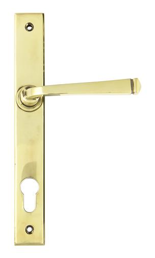 Aged Brass Avon Slimline Lever Espag. Lock Set Image 1