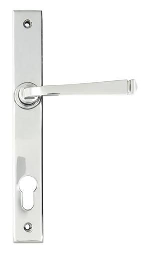 Polished Chrome Avon Slimline Lever Espag. Lock Set Image 1