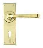 Aged Brass Avon Lever Lock Set Image 1 Thumbnail