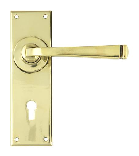 Aged Brass Avon Lever Lock Set Image 1