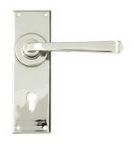 Polished Nickel Avon Lever Lock Set Image 1 Thumbnail