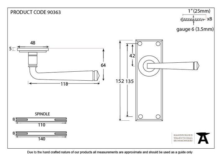 Polished Chrome Avon Lever Latch Set Image 5