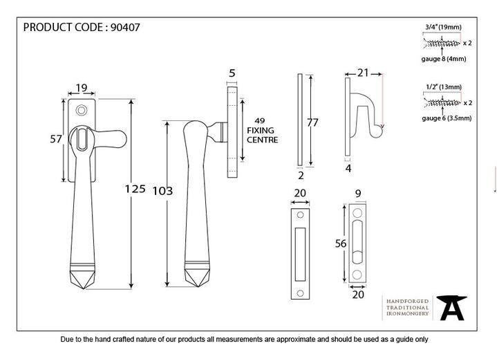 Aged Brass Locking Avon Fastener Image 5