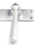 Satin Chrome Straight Lever Lock Set Image 2 Thumbnail