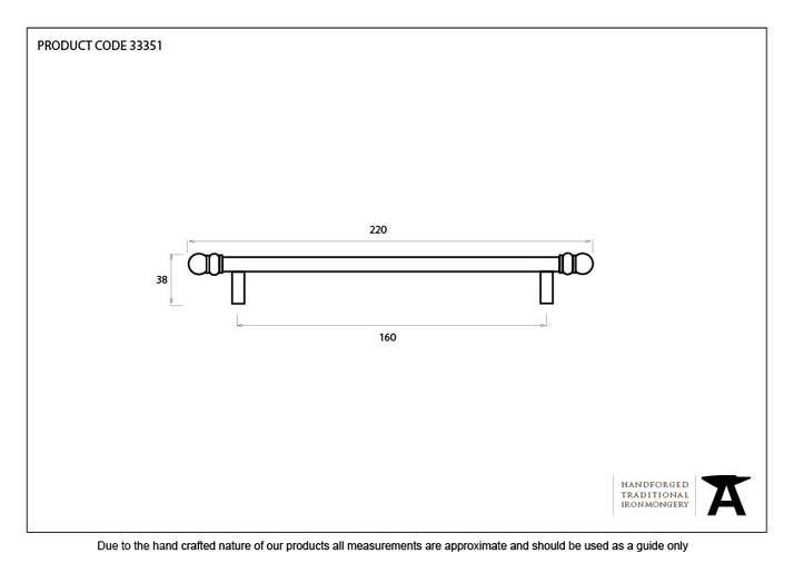 From The Anvil Natural Smooth 220mm Bar Pull Handle 33351 Image 4