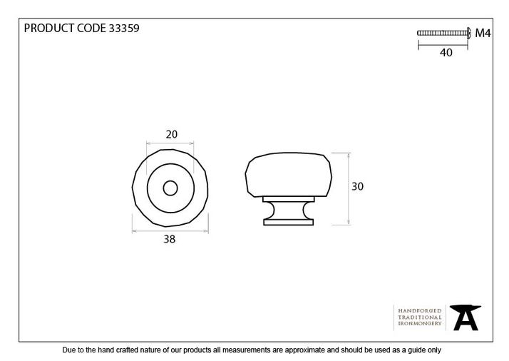 From The Anvil Natural Smooth Elan Cabinet Knob - Large 33359 Image 3