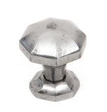 From The Anvil Natural Smooth Octagonal Cabinet Knob - Small 33366 Image 1 Thumbnail