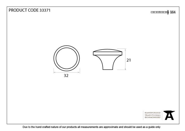 From The Anvil Black Ribbed Cabinet Knob 33371 Image 3