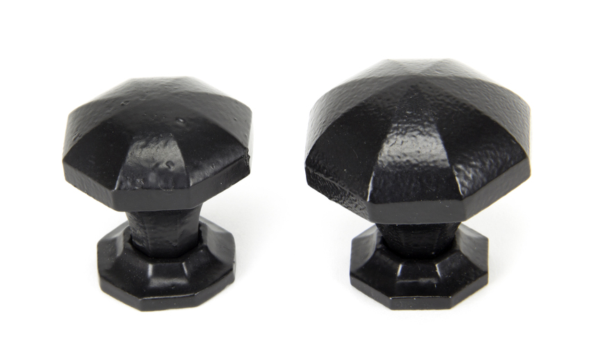 From The Anvil Black Octagonal Cabinet Knob - Small 33372 Image 3