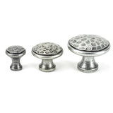 From The Anvil Pewter Hammered Cabinet Knob - Large 33625 Image 3 Thumbnail