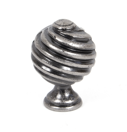 From The Anvil Pewter Twist Cabinet Knob 33691 Image 1