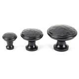 From The Anvil Black Hammered Cabinet Knob - Large 33993 Image 3 Thumbnail