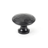From The Anvil Black Hammered Cabinet Knob - Large 33993 Image 1 Thumbnail