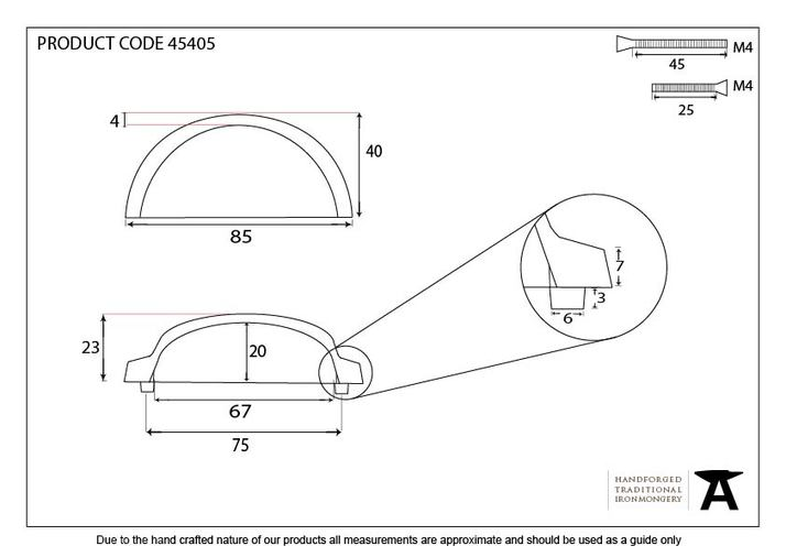 Aged Brass Regency Concealed Drawer Pull 45405 Image 2