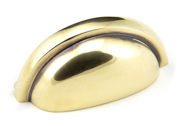 Aged Brass Regency Concealed Drawer Pull 45405 Image 1