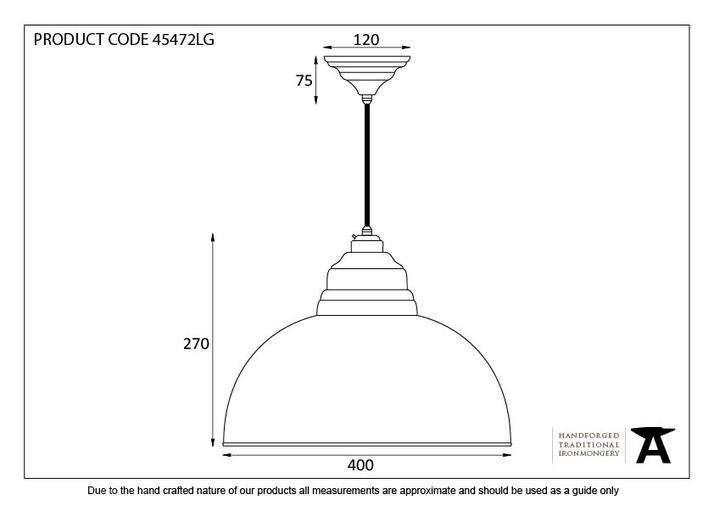 From The Anvil Light Grey Hammered Nickel Harborne Pendant 45472LG Image 2
