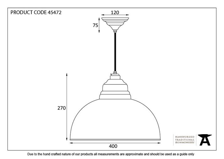 From The Anvil Hammered Nickel Harborne Pendant 45472 Image 2