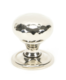 From The Anvil Polished Nickel Hammered Mushroom Cabinet Knob 32mm 46022 Image 1 Thumbnail