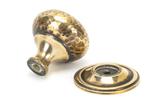 Aged Brass Hammered Mushroom Cabinet Knob 38mm Image 2 Thumbnail
