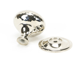 From The Anvil Polished Nickel Hammered Mushroom Cabinet Knob 38mm 46027 Image 2 Thumbnail