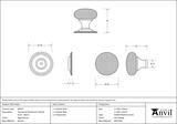 Aged Bronze Hammered Mushroom Cabinet Knob 38mm 46029 Image 3 Thumbnail