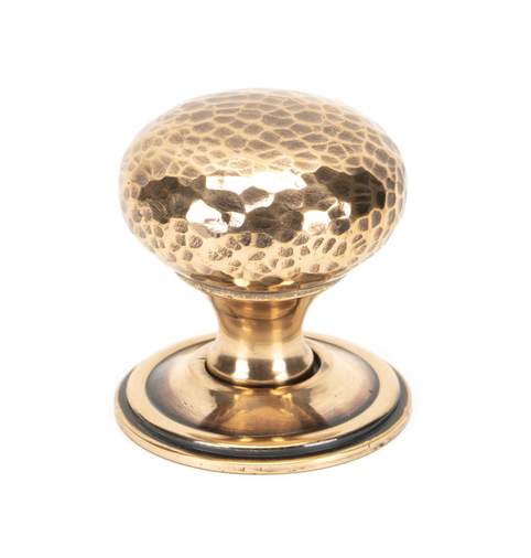 From The Anvil Polished Bronze Hammered Mushroom Cabinet Knob 38mm 46030 Image 1