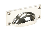From The Anvil Polished Nickel Hammered Art Deco Drawer Pull 46037 Image 1 Thumbnail