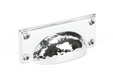 From The Anvil Polished Chrome Hammered Art Deco Drawer Pull 46038 Image 1 Thumbnail