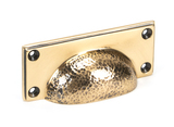 From The Anvil Polished Bronze Hammered Art Deco Drawer Pull 46040 Image 1 Thumbnail
