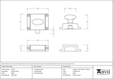 From The Anvil Black Cabinet Latch 46129 Image 2 Thumbnail