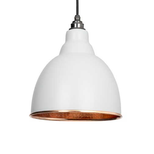 From The Anvil Light Grey Hammered Copper Brindley Pendant 49500LG Image 1
