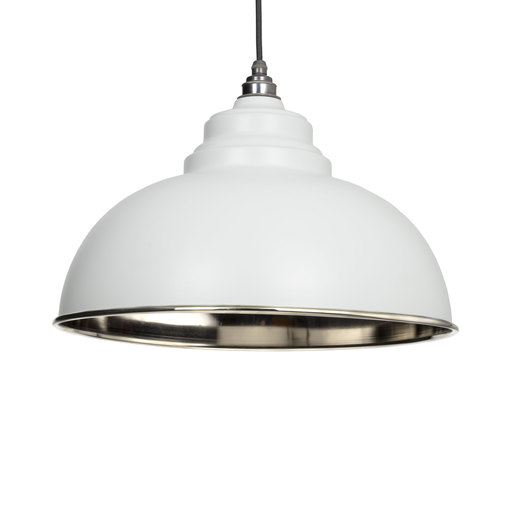 From The Anvil Light Grey Smooth Nickel Harborne Pendant 49505LG Image 1